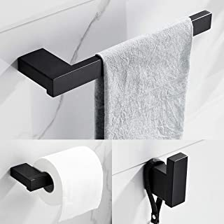 Lot de 3 porte-serviettes en acier inoxydable pour salle de bain - Accessoires de salle de bain - Accessoires de salle de ...