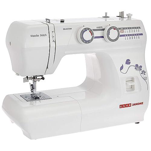 751a0b8412a Usha Janome Wonder Stitch Automatic Zig-Zag Electric Sewing Machine (White)