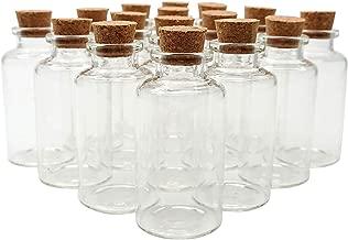 Axe Sickle 20ml Cork Stoppers Glass Bottles 20 Pcs DIY Decoration Mini Glass Bottles Favors Small Jars Corks Message Glass Bottle Small Glass Wishing Bottles for Wedding Party Favors.