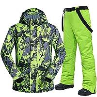 スキー服 男子スキースーツ冬の防風防水暖か雪ジャケットとパンツ男性スキーとスノーボードスーツ スキースーツ (Color : G, Size : XXL)
