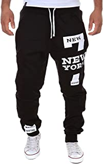 Cottory Men's Harem Casual Baggy Hiphop Dance Jogger Sweatpants Trousers