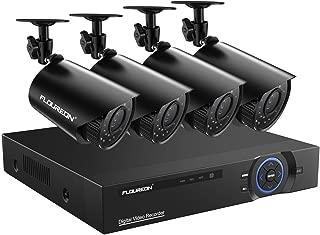 FLOUREON 8CH Full 720P Security Camera 5 in 1 Digital Video Recorder with 4PCS HD-AHD Camera Crystal Night Vision(No Hard Drive)