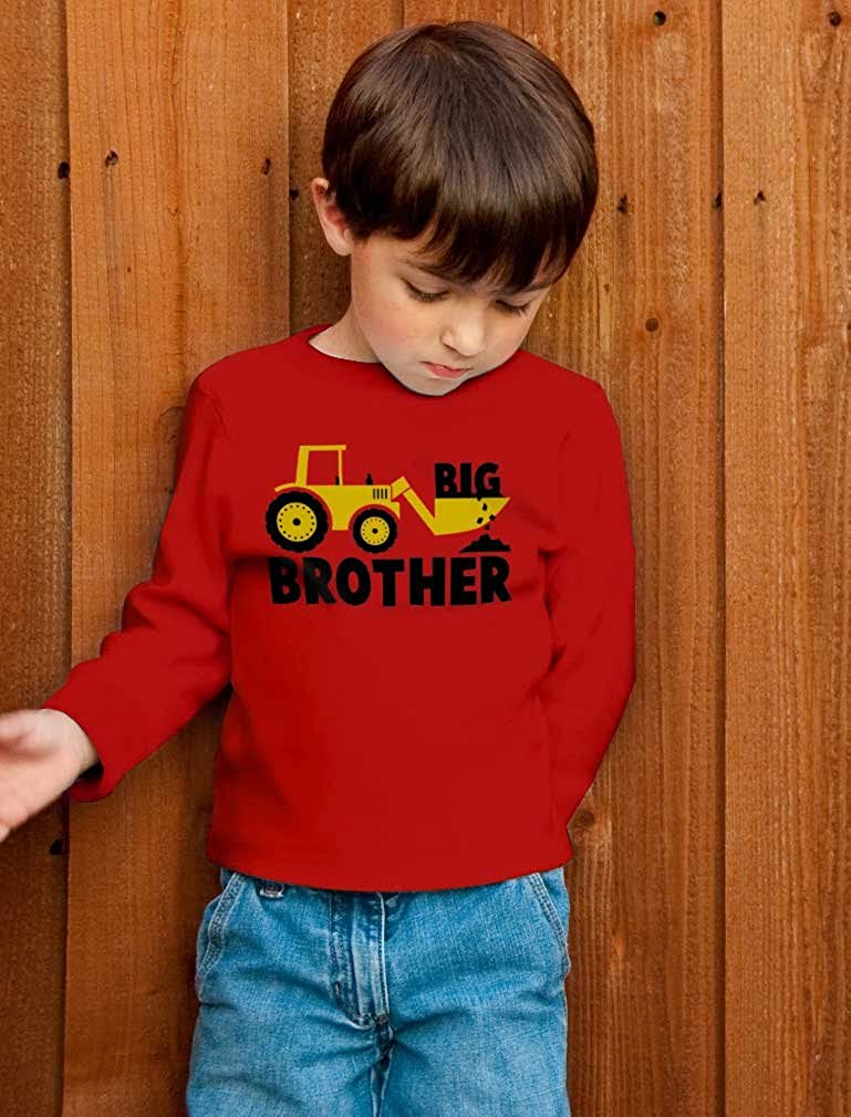 Big Brother Gift for Tractor Loving Boys Toddler/Kids Long Sleeve T-Shirt