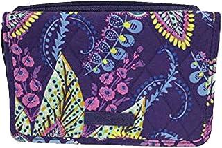 Vera Bradley RFID 3 in 1 Crossbody Clutch Wallet Bag (Batik Leaves)