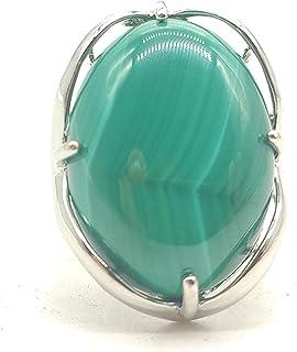 حجر طبيعي قابل للتعديل خواتم إصبع شبه ثمينة بيضوي الشكل مجوهرات الأحجار الكريمة للنساء الذكرى السنوية عيد ميلاد الزفاف