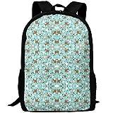 fsfsdafsaBags Goats on Blue Wallpaper 3D Print Sac à Dos de Voyage College School Laptop Bag Daypack Travel Shoulder Bag for Unisex