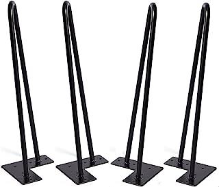 Horquilla patas de 16 pulgadas de 4, DIY muebles de mesa de metal de las piernas perfecto para mesa de centro, mesa de comedor, escritorio de diseño, mesita de mesa