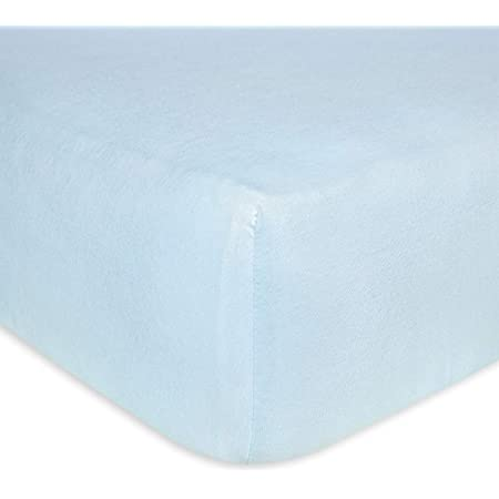 Burt S Bees Baby Fitted Crib Sheet Solid Color 100 Organic Cotton Crib Sheet For Standard Crib And Toddler Mattresses Sky Blue Baby