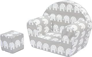 MuseHouse Sillón silla para niños | Sofá Taburete de asiento para niños | Asientos de sofá de alta calidad para niños pequeños y niños | Cubo de Juego Gratis (0-4 años)