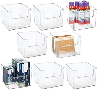 $77 » mDesign Plastic Open Front Home Office Storage Bin Container, Desk Organizer Tote - for Storing Gel Pens, Erasers, Tape, Pens, Pencils, Highlighters, Markers, 8 Pack - Clear