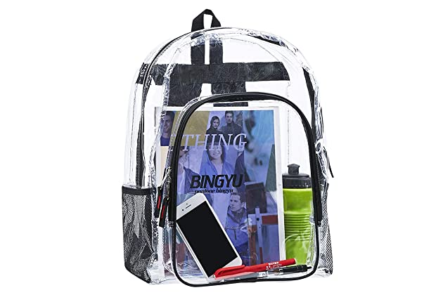 76f1ac0e8 Heavy Duty Clear Backpack,Transparent Vinyl Adjustable Straps Backpack For  Work ,School, Security Travel & Sports