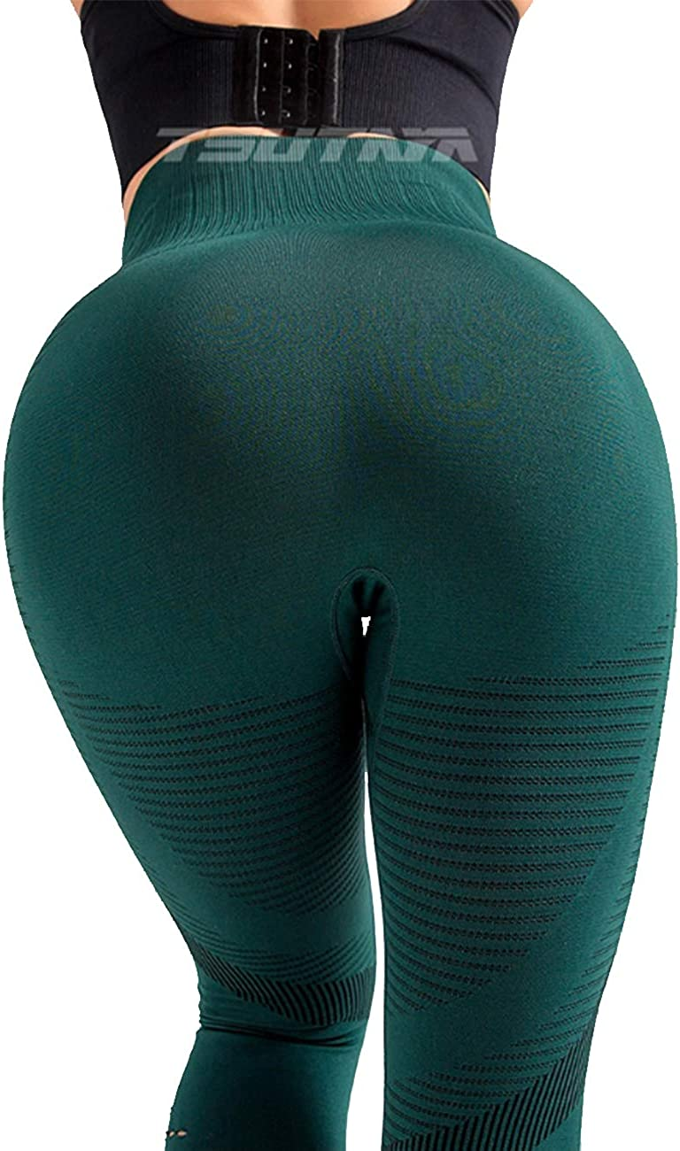 Womens High Waist Seamless Leggings Squat Proof Ankle Yoga Pants Gym Fitness Workout Tights Tummy Control
