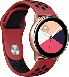 ★Auppova★ Galaxy Watch Active Bands, Sports Breathable Silicone Replacement Wristband Bracelet Women Men Strap Compatible for Samsung Galaxy Watch Active Small Large