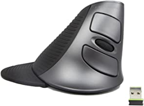 J-Tech Digital ® Scroll Endurance Wireless Mouse Ergonomic Vertical USB Mouse with Adjustable Sensitivity (600/1000/1600 DPI), Removable Palm Rest & Thumb Buttons - Reduces Hand/Wrist Pain