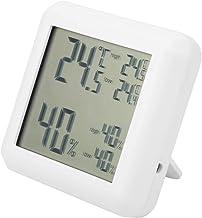Termómetro Higrómetro, medición de temperatura ℃ / ℉ Termómetro para interiores, digital con marco de soporte y orificio para colgar Pantalla LCD Oficina en casa para escritorio interior