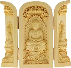 sharprepublic Buddhism Statues Kwan-Yin Statue Statute of God Carved 3 Wood for Collector - Style-2, as described