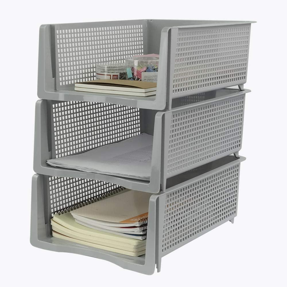 Shipping included Saedy Plastic 3-Tier overseas Stackable Desk Letter File Trays Organizer