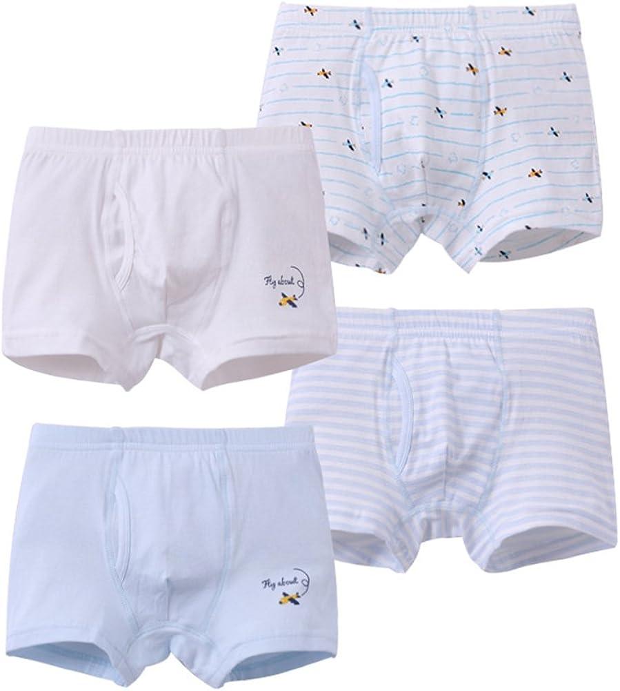 Toddler Baby Boy Boxer Briefs Kid Cotton Underwear Boxer Shorts 4 Pack 1-9t