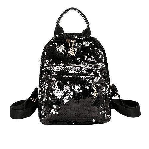 e0ddb09739 Santwo Women s Mini Rivets Waterproof PU Leather Shoulder Bag Casual  Daypack Backpack (B-black