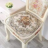 banxia Winter gepolsterte Stuhlkissen hochwertige Kissen können in den Stuhl Kissen rutschfeste Home Office Dekoration Kissen 44 * 46cm 1pc fixiert Werden