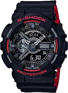 Casio G-Shock Men's Black Dial Resin Band Watch - GA-110HR-1ADR, Quartz