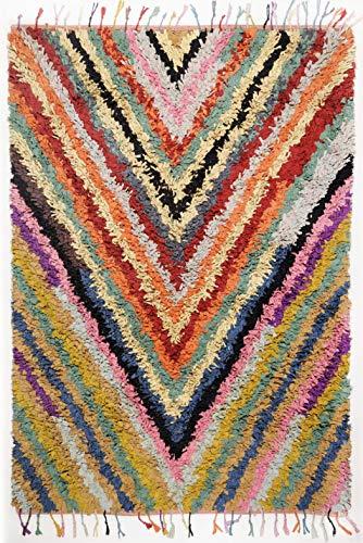 Theko Boucherouite Teppich bunt Grösse 140 x 200 cm