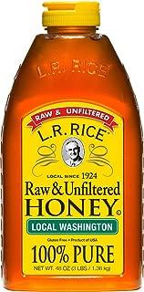 L.R. Rice Raw & Unfiltered Honey, Local Washington, 48 oz