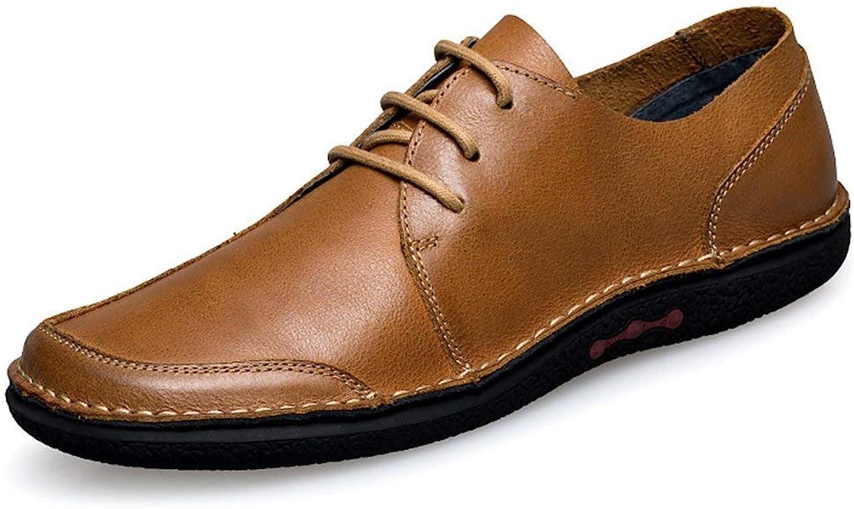 ZHRUI Boy's Men's Oxfords-Style Rubber Sole Fashion Sneaker (color   Brown, Size   6 UK)