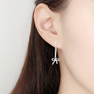 A&C Fashion Korean Version Alloy Geometric Shapes Earrings for Women. Unique Handmade Earrings Jewelry for Girl. (Silver Color)