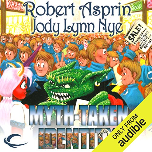 Myth-Taken Identity     Myth Adventures, Book 14              By:                                                                                                                                 Robert Asprin,                                                                                        Jody Lynn Nye                               Narrated by:                                                                                                                                 Noah Michael Levine                      Length: 9 hrs and 32 mins     159 ratings     Overall 4.6