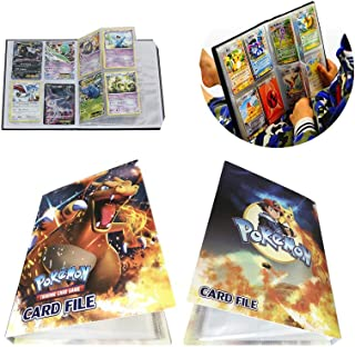 Card Holder Collection Handbook Trading Card Album for Pokemon Holds up to 240 Trading Cards (Charizard)