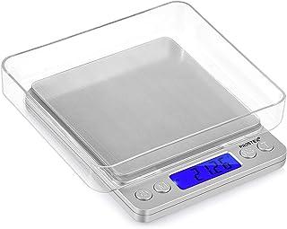 ميزان مجوهرات الكتروني رقمي صغير بتصميم قابل للحمل مزود بشاشة ال سي دي بقدرة حمل 500 غرام ودقة 0.01 غرام