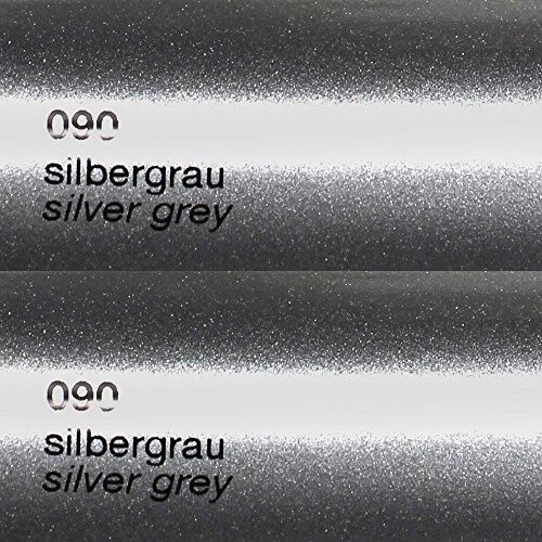 8,25€/m² Oracal 751c - 090 Silber Grau - Glanz Klebefolie - 5m x 63cm - Folie - Moebelfolie - Plotterfolie - Selbstklebend - gegossen - cast