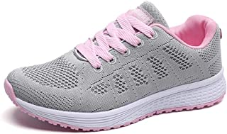 YUHUAWYH Womens Running Shoes Breathable Knit Walking Sneakers Casual Lightweight Tennis Shoes for Jogging Fitness Athletic