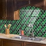 Azulejos Adhesivos Baño Cocina Menta Verde 10 Vinilos Cocina Azulejos Vinilos Para Baños Losetas Vinilo para Paredes Suelo Vinilo Autoadhesivo para Cocina