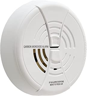 FIRST ALERT Carbon Monoxide Alarm   BRK CO250 Battery Operated Carbon Monoxide Detector With 9-Volt Battery & Two Silence ...