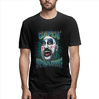 Cuizongtan Captain Spaulding - Monsters and Madmen Mens Soft Short Sleeve T-Shirt Black