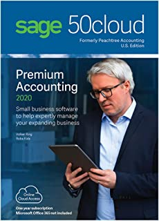 Sage Software Sage 50cloud Premium Accounting 2020 U.S. 2-User One Year Subscription (2-Users)