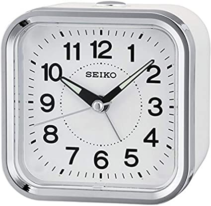 Seiko Despertador analógico Unisex Color Blanco qhe130