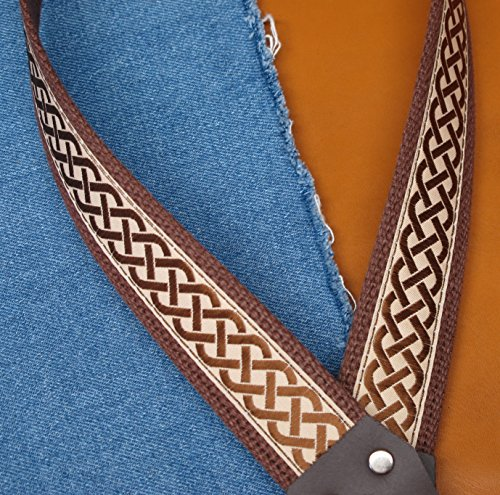 CELTIC KNOT Cotton USA-made A & F style TROPHY Mandolin Strap