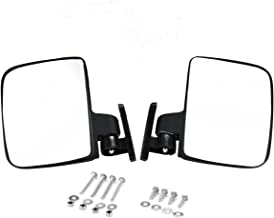 Valchoose Golf Cart Side Mirrors for EZ-GO, Club Car, Yamaha, Foldable Golf Cart Rearview Mirrors