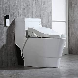 Woodbridgebath Woodbridge Luxury, Elongated One Piece Toilet with Advanced Bidet Seat, T-0008