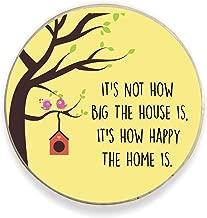 Yaya Cafe™ Happy Home Printed Fridge Magnet - Round