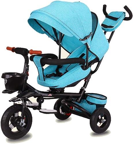 Faltendes Kinderdreirad, stützendes fürrad 1-3-6 Jahre alter Kinderwagen-leichter Raum-Rad-überdachungs-Sto ntlang (Farbe   Grün)