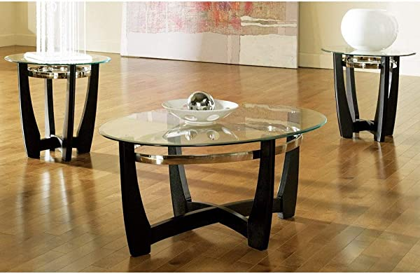 Greyson Living Mandalay Glass Top Occasional Tables By Pack Of 3 3 Piece Set
