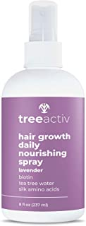 TreeActiv Hair Growth Daily Nourishing Spray | Natural Leave in Conditioner | Anti Frizz | Reduce Curly Frizzy Hair| Argan...