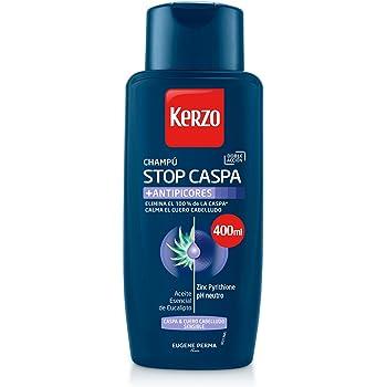Kerzo Champú Stop Caspa Antipicores - 3 envases de 400 ml - Total: 1200 ml: Amazon.es: Belleza