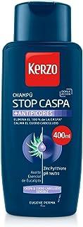 Kerzo Champú Stop Caspa Antipicores - 3 envases de 400 ml - Total: 1200 ml