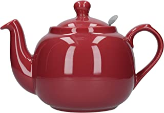 London Pottery Farmhouse Teapot, Red, 6 Cup, Closed Box