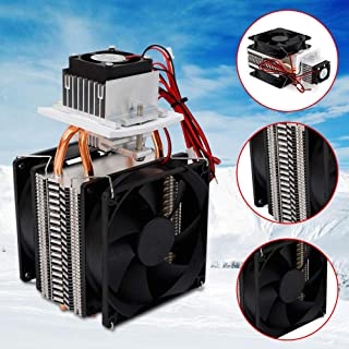 Thermoelectric Peltier Cooler Module, DIY Electric Semiconductor Refrigeration Radiator Machine Cooling System Cooler Fan, Water Chiller Cooling Device
